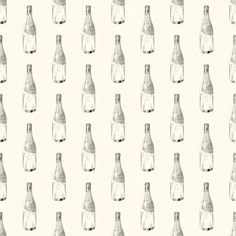 Nahtloses muster der sektflasche