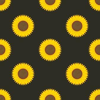 Nahtloses muster der sonnenblume