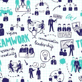 Nahtloses muster der teamarbeit