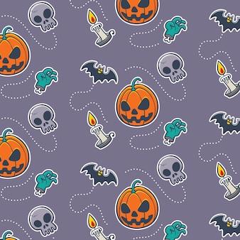 Nahtloses muster der vektorabbildung mit halloween