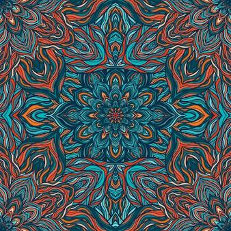 Nahtloses muster der vektornatur mit abstrakten blumen.