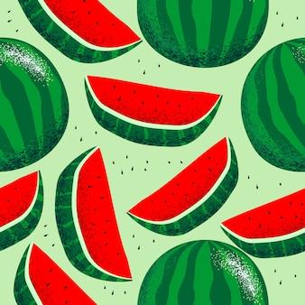 Nahtloses muster der wassermelone