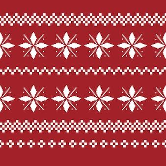 Nahtloses muster der weihnachtsdekoration. hässlicher pullover