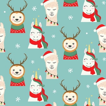 Nahtloses muster der weihnachtsfiguren