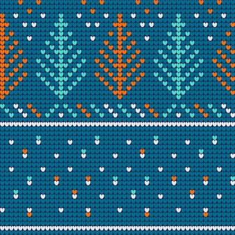 Nahtloses muster der weihnachtshässlichen strickjackeminze