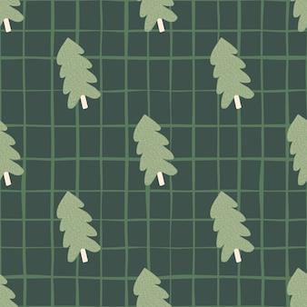 Nahtloses muster der weihnachtskiefer. für stoffdesign, textildruck, verpackung, bezug. vektorillustration.