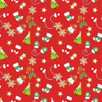 Nahtloses muster der weihnachtsplätzchen.