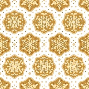 Nahtloses muster der weihnachtssüßigkeitenbäckerei mit lebkuchenplätzchen. herbst- und winterferien. tapete, druck, verpackung, papier, textildesign. einer von 20
