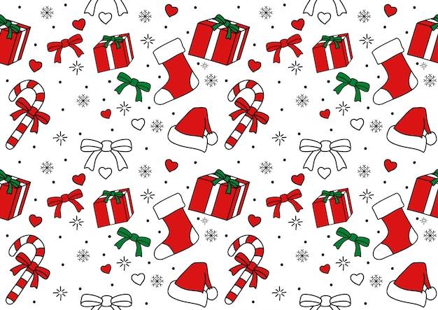 Nahtloses muster der weihnachtsverzierung