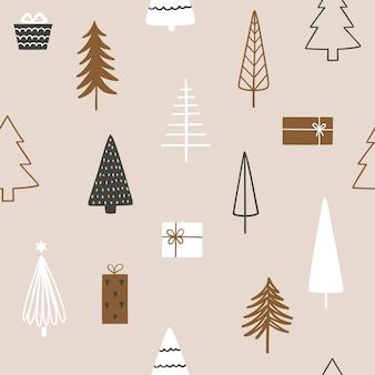 Nahtloses muster der weihnachtszeit