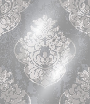 Nahtloses muster der weinleseverzierung. barockes rokokobeschaffenheits-luxusdesign. königliche textildekore.