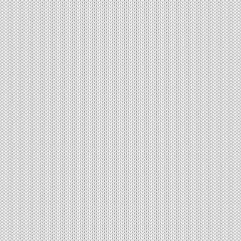 Nahtloses muster der weißen und grauen realistischen stricktextur
