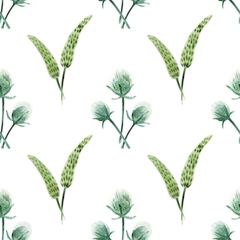 Nahtloses muster der wildpflanzen der wiese