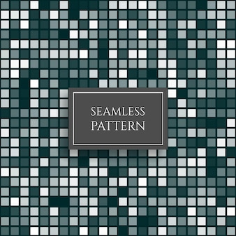 Nahtloses muster des abstrakten azurblauen quadratischen pixelmosaiks vektorhintergrund