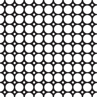Nahtloses muster des abstrakten gitters mit verbundener sich wiederholender geometrischer struktur in minimalistischer mosaikartillustration