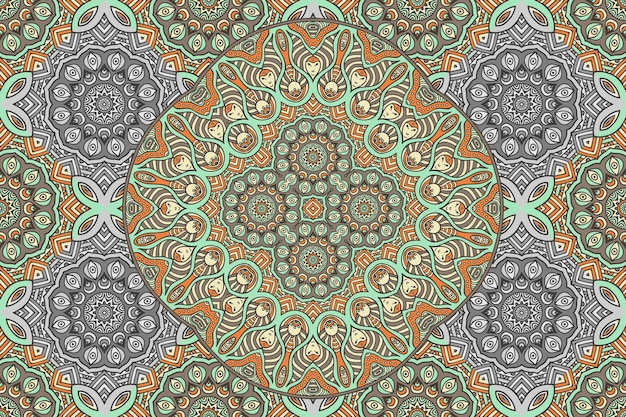 Nahtloses muster des abstrakten mandalas