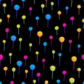 Nahtloses muster des abstrakten regenbogens. moderner musterhintergrund für geburtstagskarte, kinderpartyeinladung, tapete, weihnachtsgeschenkpapier, ladenverkaufsplakat, taschendruck, t-shirt, werkstattwerbung