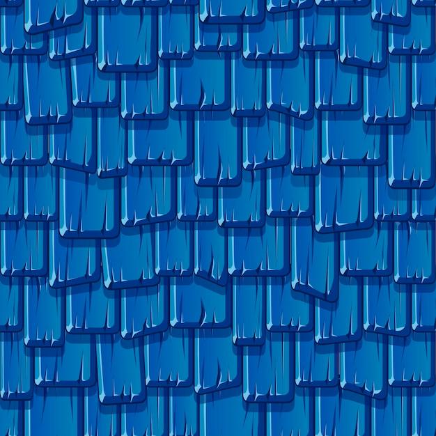 Nahtloses muster des alten blauen holzdaches. strukturierter hintergrund eines geschlagenen vintagen daches.