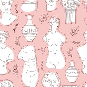 Nahtloses muster des antiken griechenlands und roms.