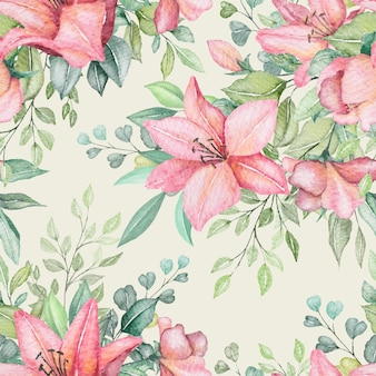 Nahtloses muster des aquarellblumens