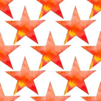 Nahtloses muster des aquarellvektors mit sternen. galaxy sterne textur