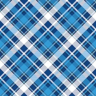 Nahtloses muster des blauen plaids des moredn-designs