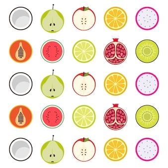 Nahtloses muster des bunten vektors mit früchten
