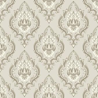 Nahtloses muster des damastes. klassisches, luxuriöses, altmodisches damast-ornament
