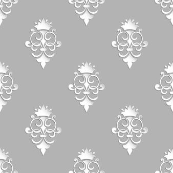 Nahtloses muster des dekorativen damastes