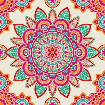 Nahtloses muster des ethnischen boho hippies