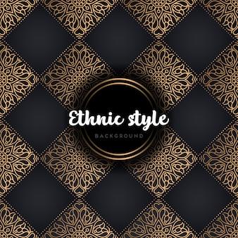 Nahtloses muster des ethnischen luxusdesigns