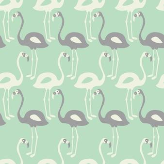 Nahtloses muster des flamingos auf tadellosem hintergrund