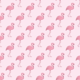 Nahtloses muster des flamingos. vektorhintergrund