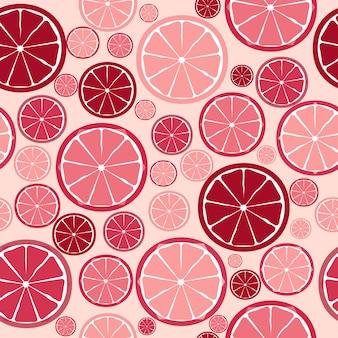 Nahtloses muster des fruchtdesigns. vektor-illustration. eps 10.