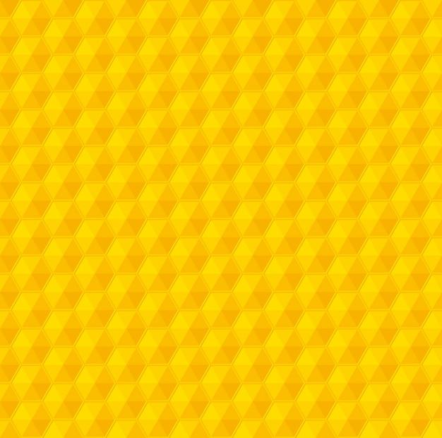 Nahtloses muster des gelben geometriebienenwaben-vektors
