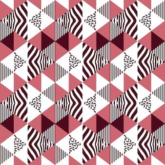 Nahtloses muster des geometrischen dreiecks der weinlese