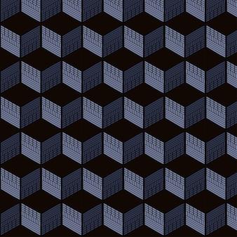 Nahtloses muster des geometrischen würfels