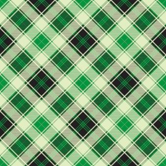 Nahtloses muster des grünen diagonalen plaids