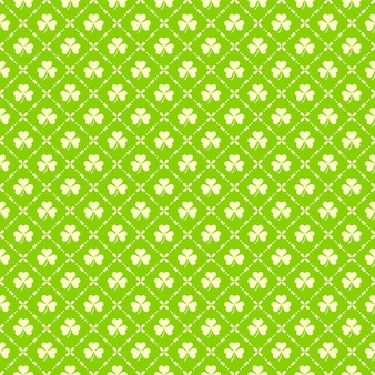 Nahtloses muster des grünen klees für tag st. patricks