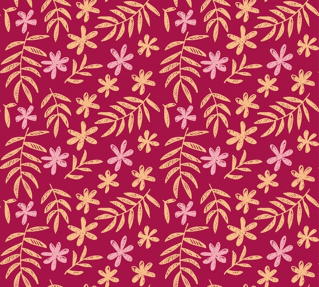 Nahtloses muster des hellen rosa vektors des tropischen blumen