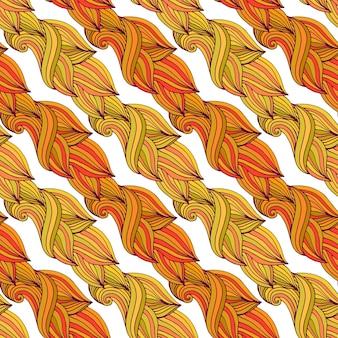 Nahtloses muster des herbstes in den gelben und orange farben
