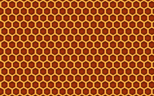 Nahtloses muster des honigkamm-bienenstocks gemasert.