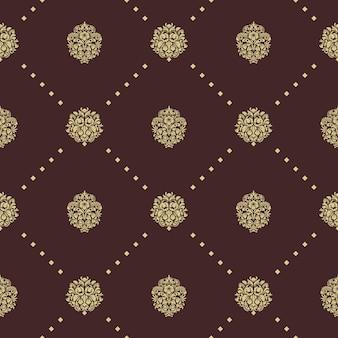 Nahtloses muster des königlichen barock. hintergrund dekorative verzierung, design Kostenlosen Vektoren