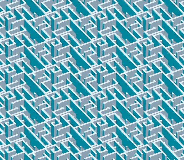 Nahtloses muster des kreativen abstrakten bunten labyrinths. geometrisches illustrationsmuster des modernen artdesigns des vektors
