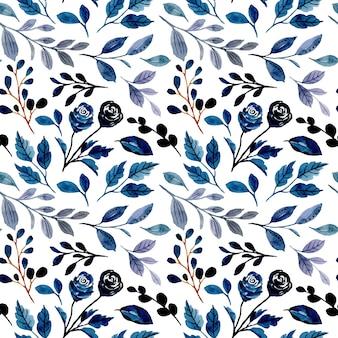 Nahtloses muster des lila laubaquarells