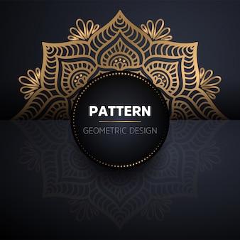 Nahtloses muster des luxuriösen dekorativen goldmandalas