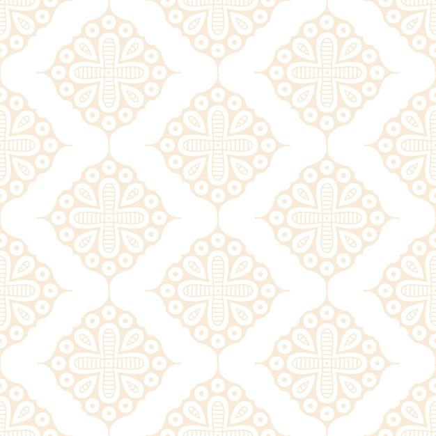 Nahtloses muster des luxuriösen dekorativen mandala-designs in goldfarbe