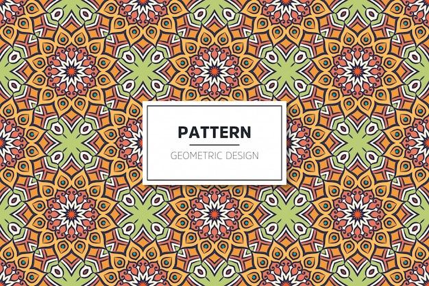 Nahtloses muster des luxuriösen dekorativen mandala-designs
