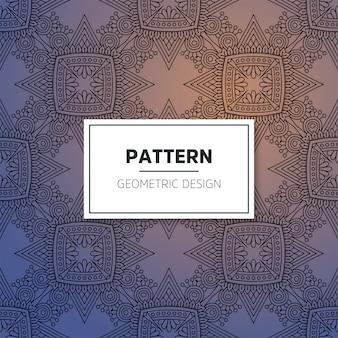 Nahtloses muster des luxuriösen dekorativen mandalas