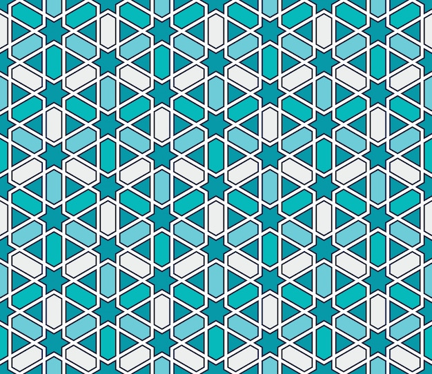 Nahtloses muster des marokkanischen artmosaiks